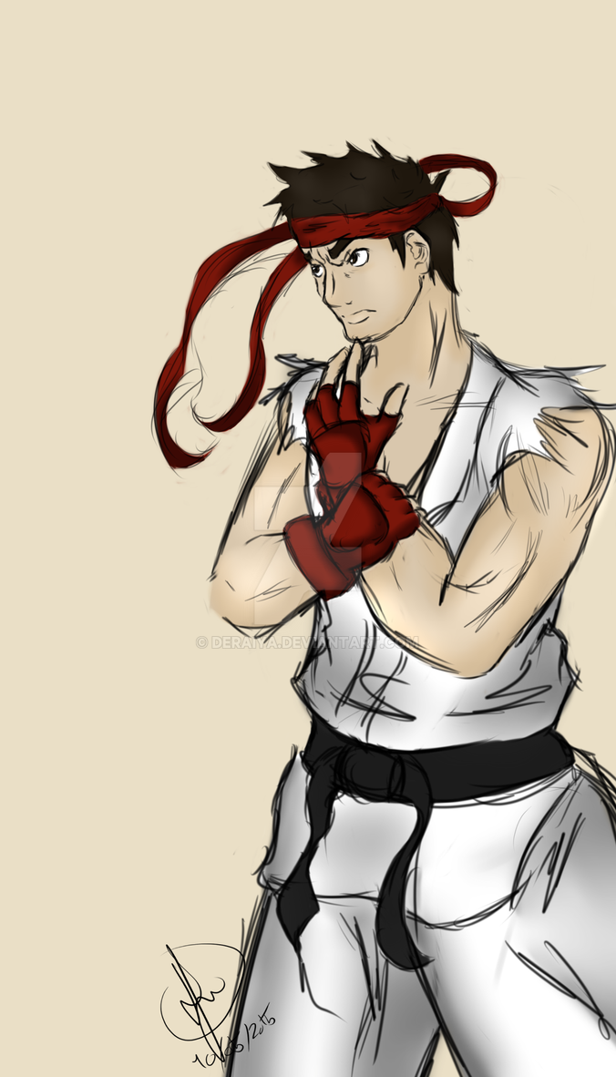 Ryu - Street Fighter by Deraiya