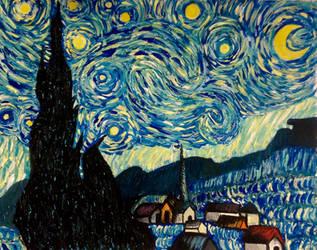 Van Gogh's Starry Night Remake by ImAGrenade