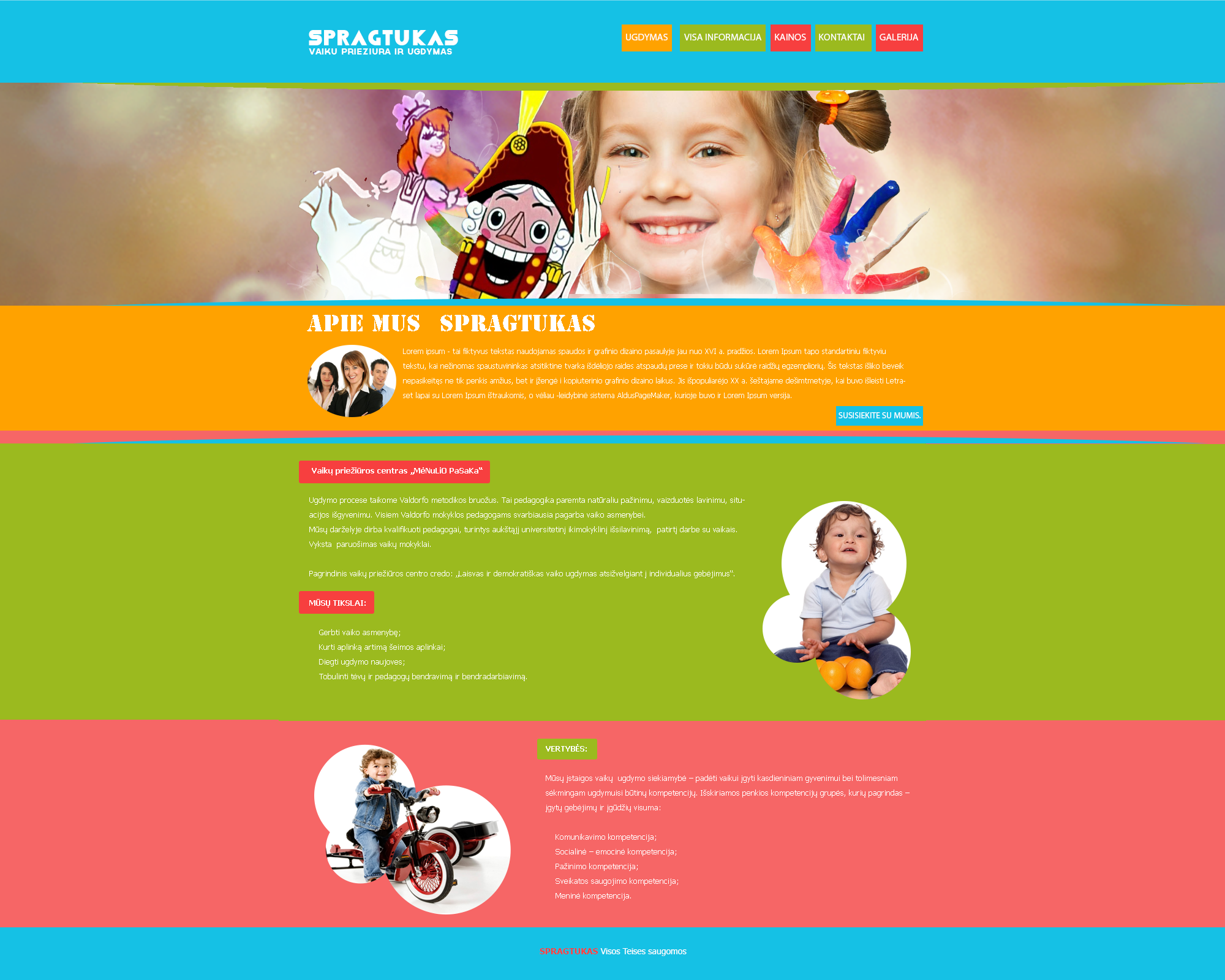 How to design a website for kids -  Spragtukas Web Design For Kids By Treakart