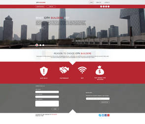 Citybuilders web ddesign by TreaKArt