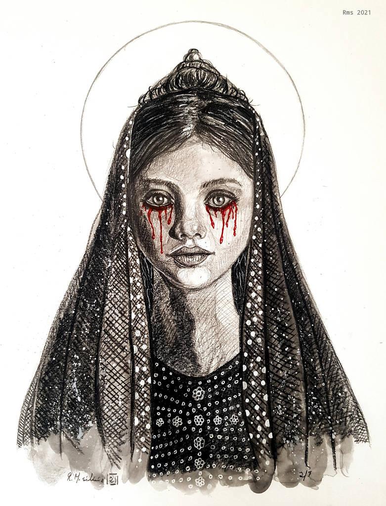 Virgin crying blood
