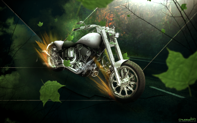 Jungle Harley by ChubbaART