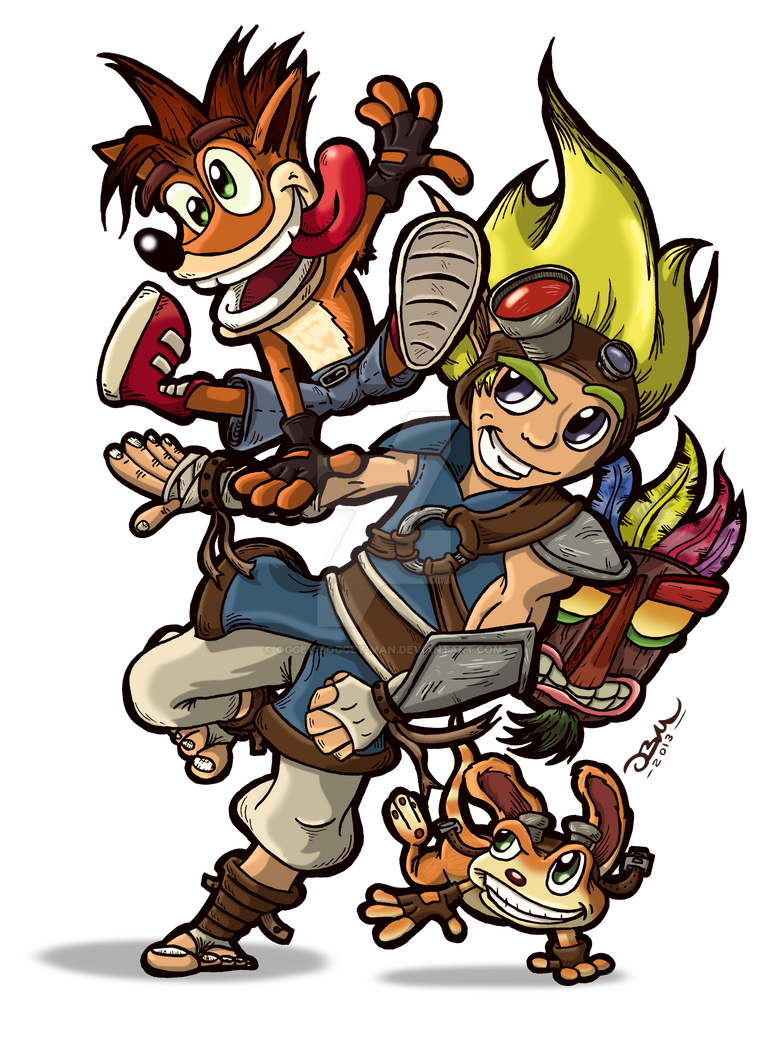 Naughty Dog Heroes by Oggey-Boggey-Man