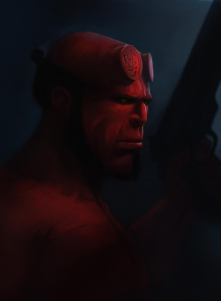 Hellboy by yoshdestroys