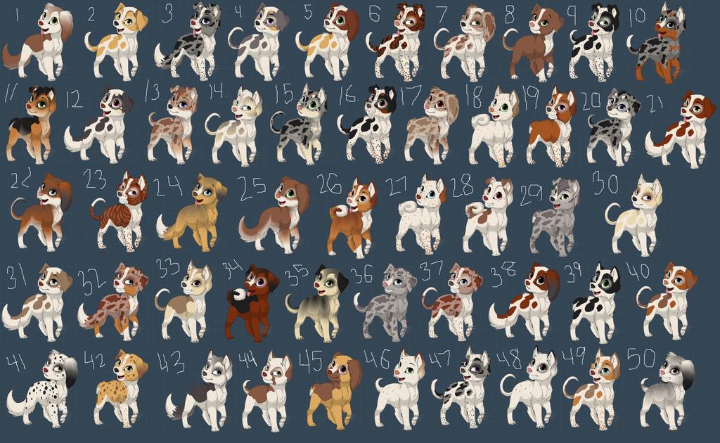 .:50 FREE DOG ADOPTS:. by jayjaythecatsadopts