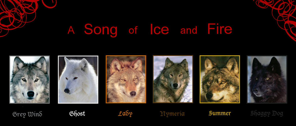 game of thrones guide the stark direwolves