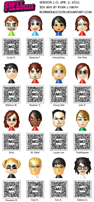 Anime Mii Characters 3ds : Scott pilgrim ds miis v by ronnieraccoon on deviantart