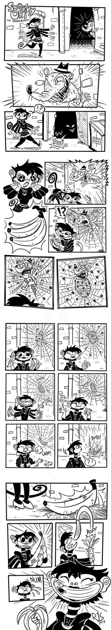 Spooky Uki comic #1 by ronnieraccoon