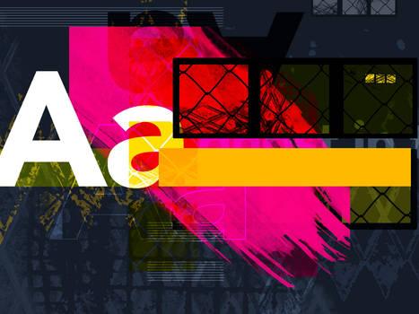 AA grunge collage