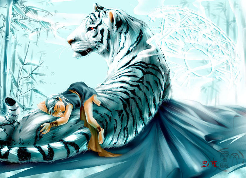 Fantasy white tiger - photo#21
