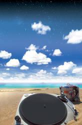 DJ Ibiza vacation by chipMONKgrafx