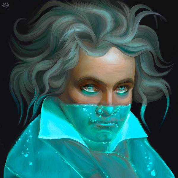 Ludwig van Beethoven by NickyBarkla