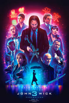 Official John Wick 3 Illustrated Poster