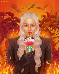 Daenerys Targaryen | Game of Thrones X Starbucks by NickyBarkla