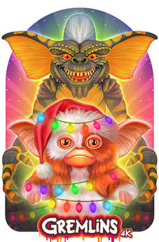 Gremlins Illustrated Poster