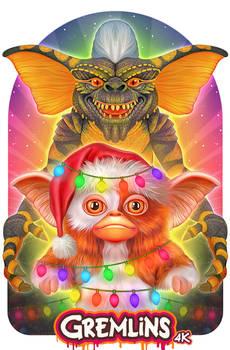 Gremlins Illustrated Poster