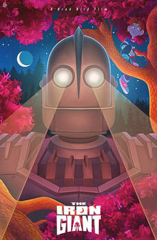 'Iron Giant' Illustrated Poster