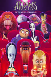 'The Addams Family' Illustrated Poster