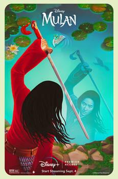 Mulan (2020) Illustrated Poster - Official Artwork