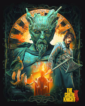 'The Green Knight' Illustrated Poster
