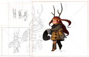 2019-03-12 Freckled Girl With Antlers Painted