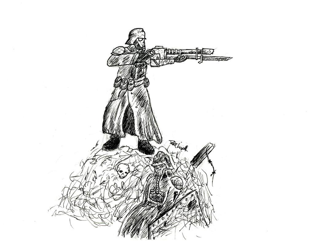 Death Korps of Krieg (DnD Event Art) by ManufacturerOfWar