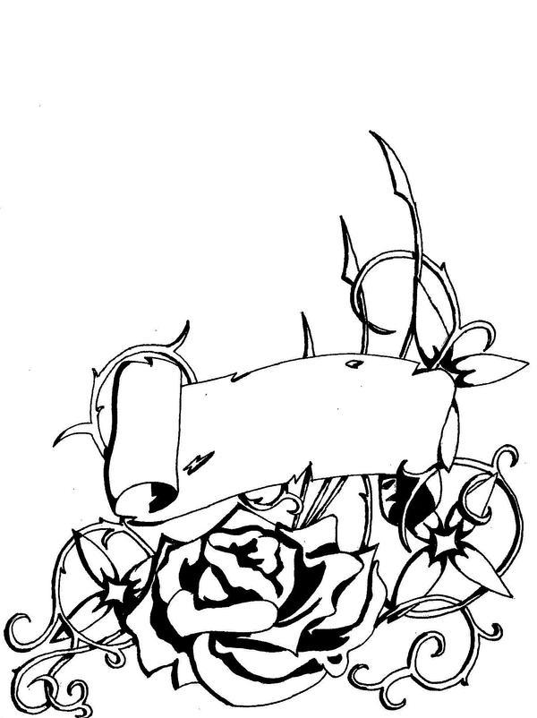rose and scroll tatoo by winddancer9 on deviantart. Black Bedroom Furniture Sets. Home Design Ideas