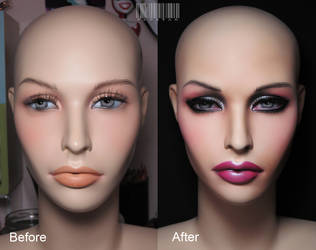 Mannequin Head Makeover Number 3 by Pepstar by PepstarsWorld