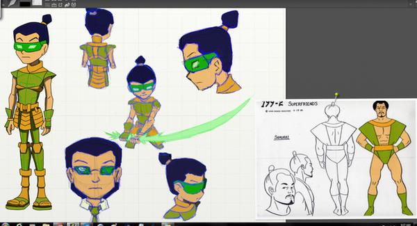 super friends samurai by vederick on deviantart