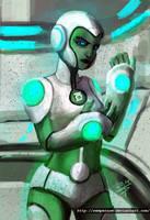 Green Lantern corps Aya by sempernow