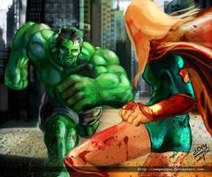Hulk smash 'puny' little girl !!! by sempernow