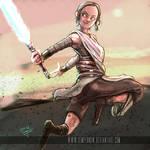 Rey having fun (cartoony version)