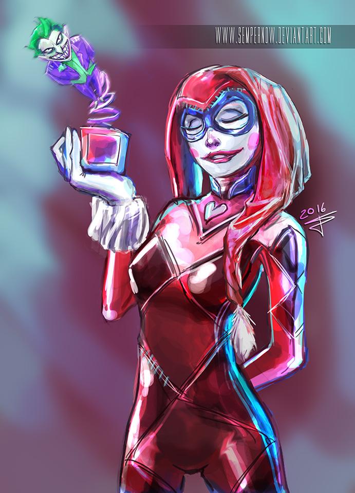 Harley Quinn by sempernow