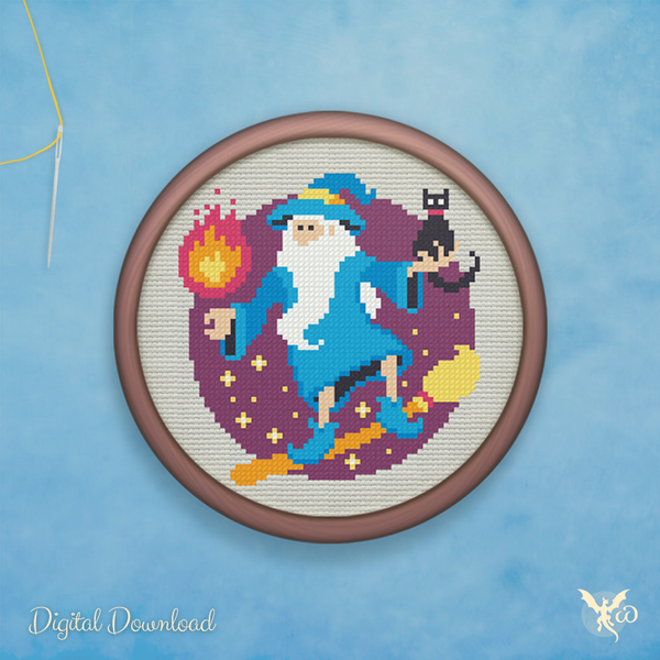 Wizard Magic - cross stitch pattern by StoneDragonWorkshop