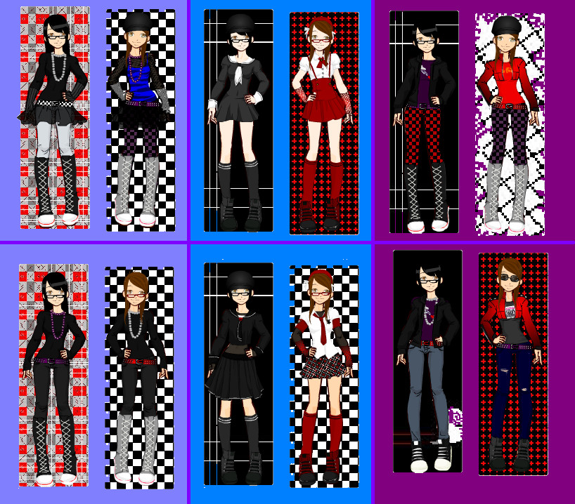 Me and Saki Emo Punk Clothes by angiepangie486 on DeviantArt