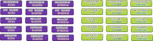 Art Status Set // Lime + Purple by SickAede