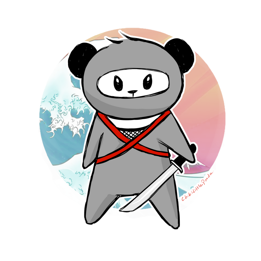 Ninja Panda by ChibiLittlePanda