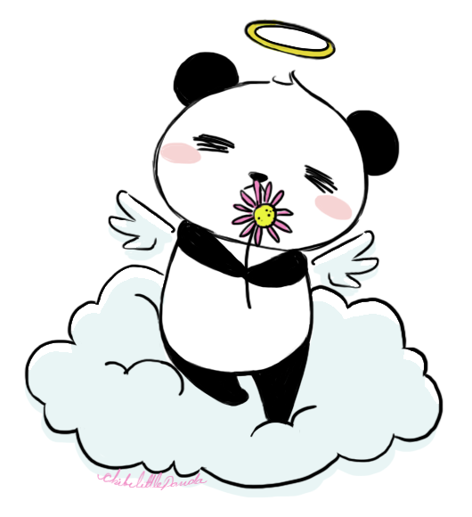 Angel Panda by ChibiLittlePanda