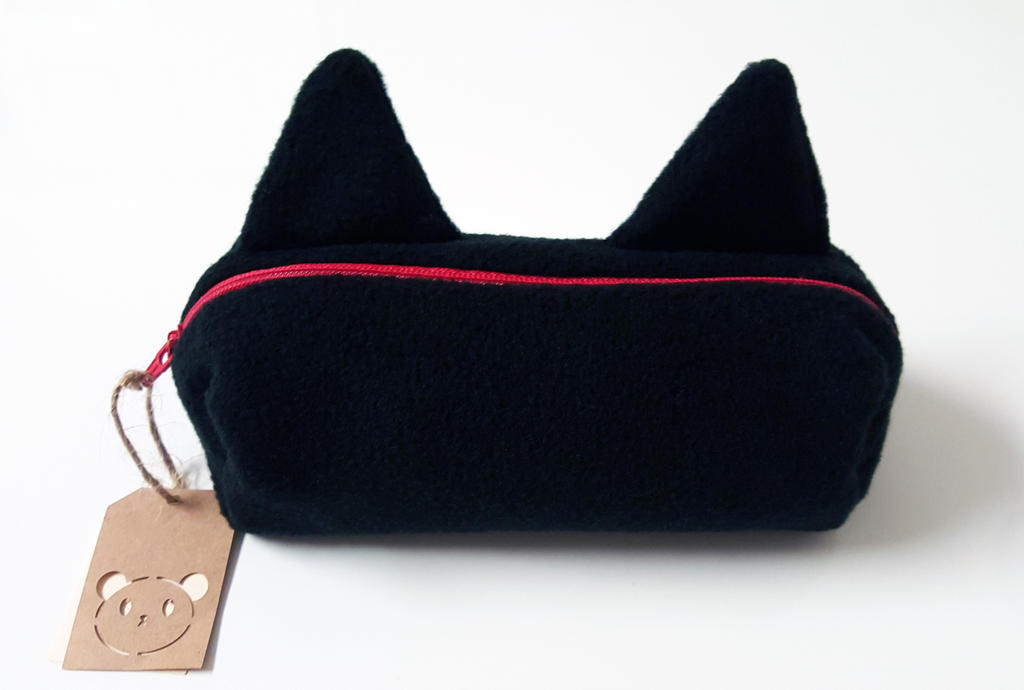 Kitty Pencil Case by ChibiLittlePanda