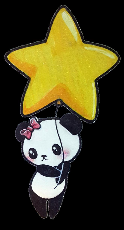 Star Panda by ChibiLittlePanda