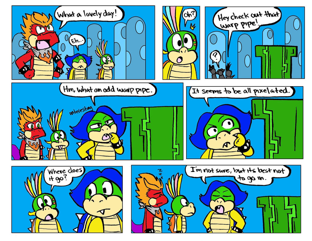 8-bit Hooktail Jr shorts comic 1 by DragonTeens