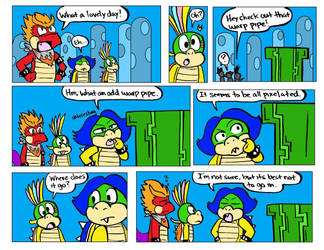 8-bit Hooktail Jr shorts comic 1 by DragonTeens