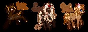 Pony Adoptable Auction - Pancake Ponies (CLOSED) by tsurime