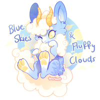 kerfluffles! blue skies + fluffy clouds (CLOSED) by tsurime