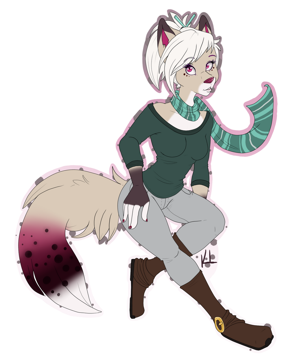 $15 flat color full body commission by KatieKuguar