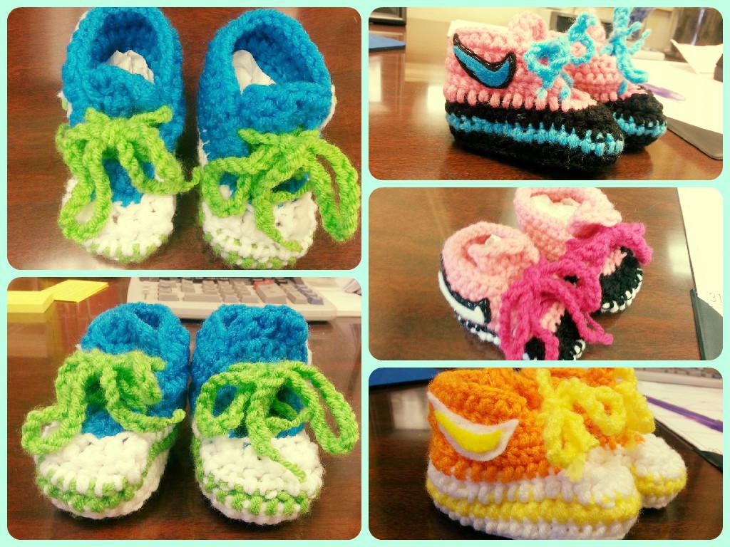 Baby crochet booties by KatieKuguar