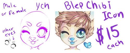 Blep chibi icons $15 CLOSED by xXSugarHiNightmareXx