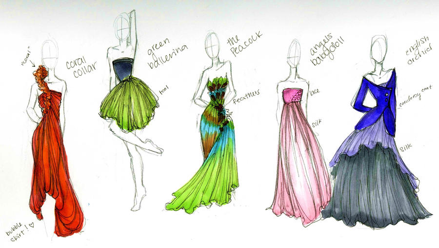 Fashion designs i by waterlily78704 on deviantart for To be a fashion designer