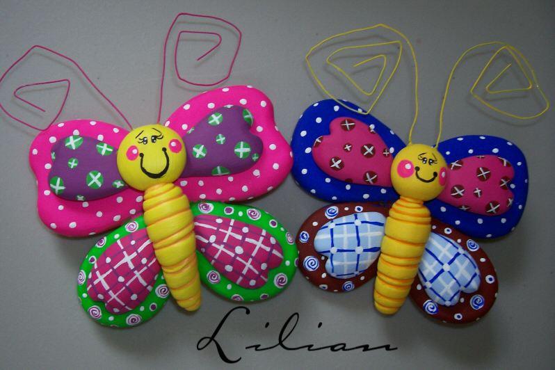Mariposas de porcelana fria - Imagui