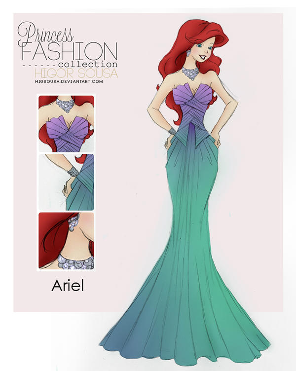 Princess Fashion Collection - Ariel by HigSousa on DeviantArt